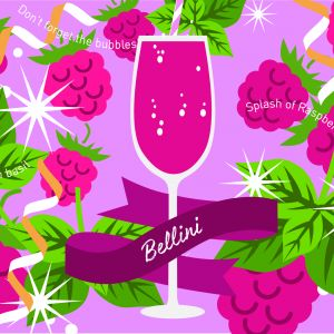 Raspberry Prosecco Bellini Recipe!