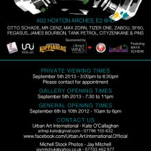i heart sponsors: Urban & Iconic, The World of Street Art exhibition, 5th – 10th Sept 2013